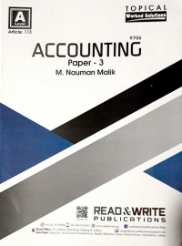 A/L A2 - Levels Accounting Paper  - 3 Article No. 113