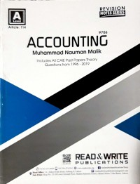 A/L Accounting Revision Notes Series Article No.114