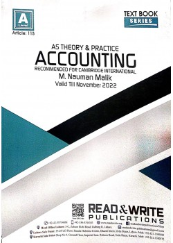 A/L AS - Levels Accounting Text Book Series Theory & Practice Article No. 115