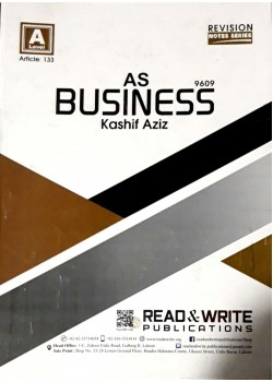 A/L AS - Levels Business Revision Notes Series  Article No. 133
