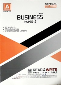 A/L Business Studies Paper - 2 (Topical) Article No. 138