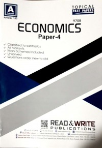 A Levels Economics Paper 4 (Topical) Article No. 150