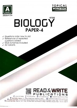 A/L Biology Paper - 4 (Topical) Article No. 214