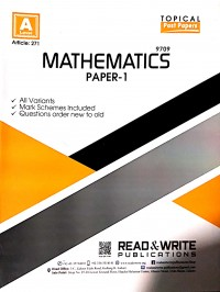 A/L  Mathematics Paper - 1 (Topical) Article No. 271