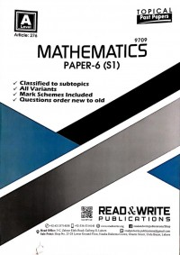 A/L  Mathematics Paper - 6 (S1) Topical Past Paper Article No. 276