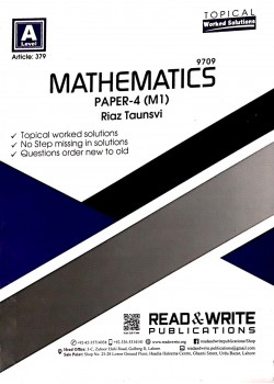 A/L  Mathematics Paper - 4 (M1) Topical Article No. 379