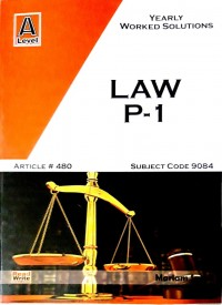 A/L AS Law Paper - 1 Yearly Article No. 480