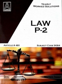 A/L AS Levels Law Paper - 2 Yearly Article No. 481