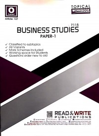O/L Business Studies Paper 1 (Topical) - Article No. 127