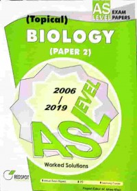 GCE A Level Biology P2 (Topical) 2019