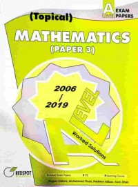 GCE A Level Mathematics P3 (Topical) 2020