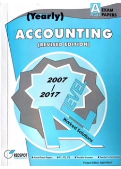 GCE A Level Accounting (Yearly) 2018