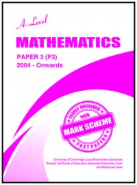 Mathematics Paper P3 A/L [June-2020]